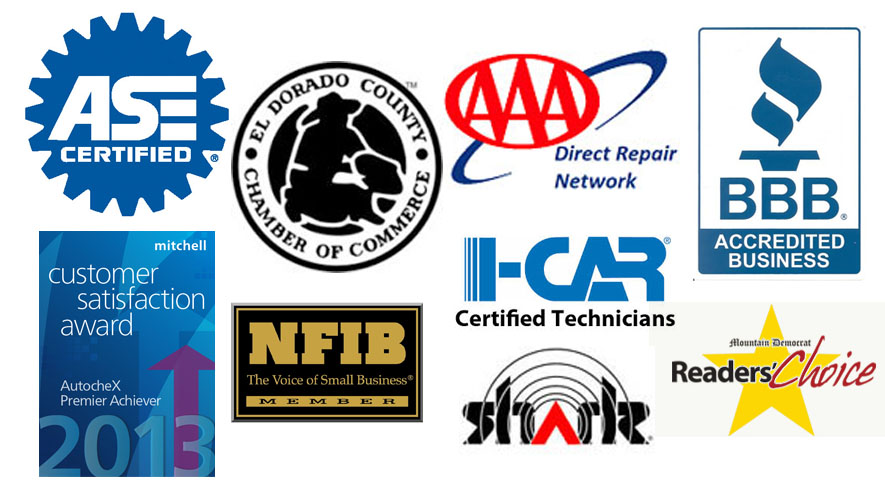 Franks Body Shop Placerville Awards Accrediation and Certifations